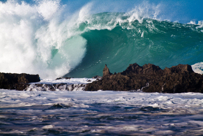 12) There's no doubt that the waves that his Hawaii's northern shores in the winter are monstrous.