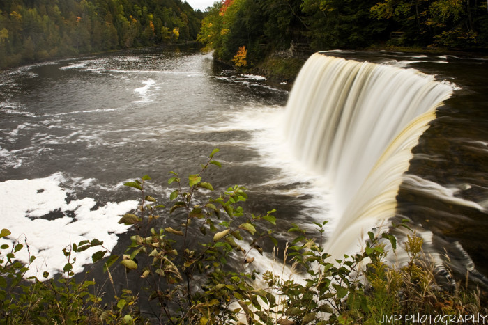 8. When you get to the Upper Falls, you take a short paved pathway and through an old growth forest, where you'll find observation platforms at the crest of the Falls. You can get right up close to the crashing of the Tahquamenon River.