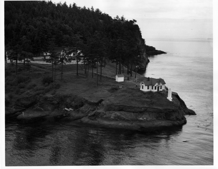 9. This was the historic Turn Point Lighthouse in 1962, located on Stuart Island in the San Juan Islands region.