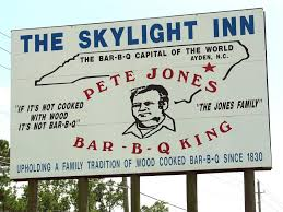 8. The Skylight Inn, Ayden