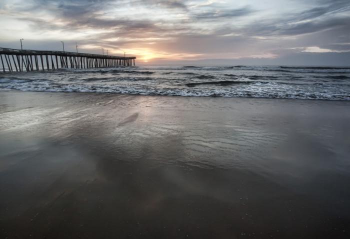 10. Sunrise by the pier at Virginia Beach.