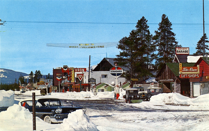 10. West Yellowstone, 1950s