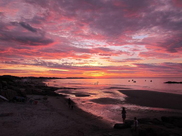 1. The rosy glow of the sun setting over Wingaersheek beach.