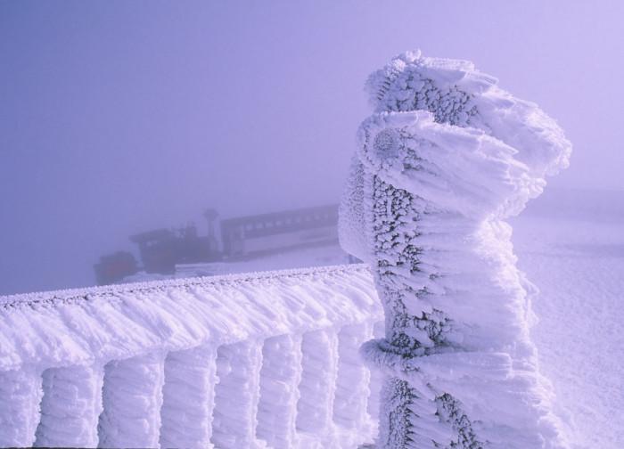 9. Mount Washington in the winter.