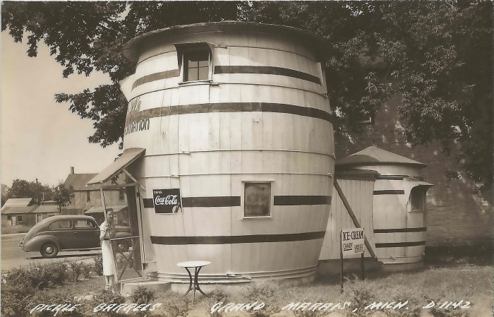 The real-life pickle house was constructed as a summer home for Donahey and his wife as a summer cabin on Grand Sable Lake.