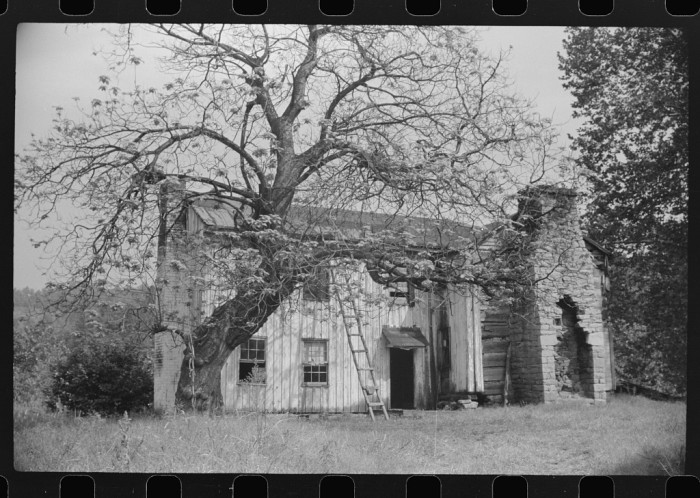 15. This was an old abandoned farmhouse on the highway between Morgantown and Elkins in 1938.