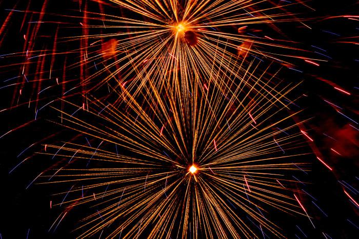 3. Each October, during the Albuquerque International Balloon Fiesta, fireworks light up the night.