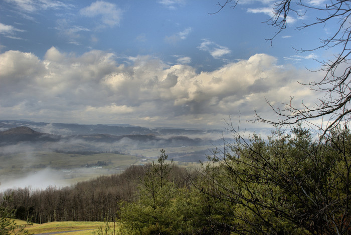 7. This is a great shot taken at the Overlook on Muddy Creek Mountain near Alderson, WV.