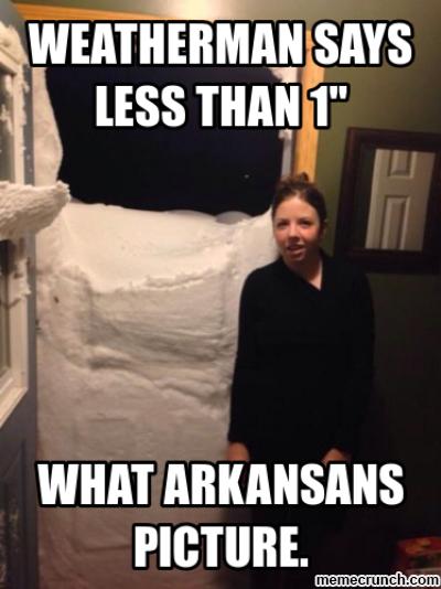 8.  Arkansas Snow