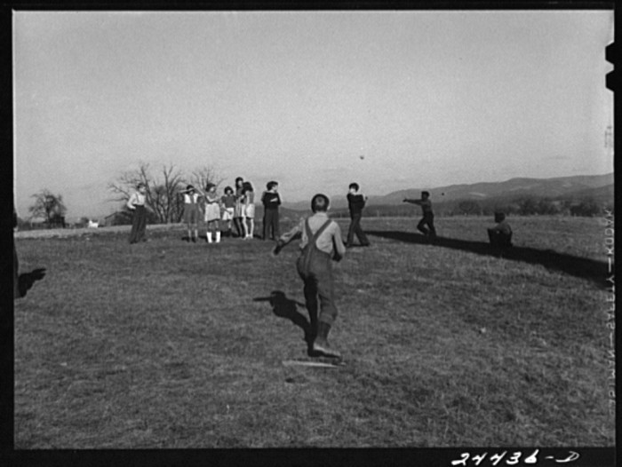 9. Here's another of a child's baseball game in Dailey, 1941.