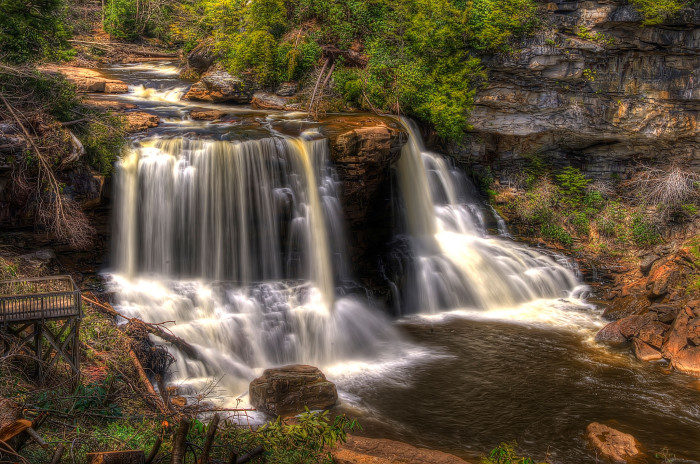Blackwater Falls is one of the most photographed sights in West Virginia. You can find its image on calendars, stationery, advertisements and even jigsaw puzzles.