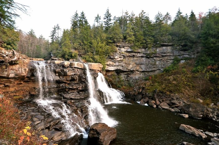 Blackwater Falls is the namesake of Blackwater Falls State Park in Davis. The falls are named for the amber-colored water that falls five stories to the bottom.