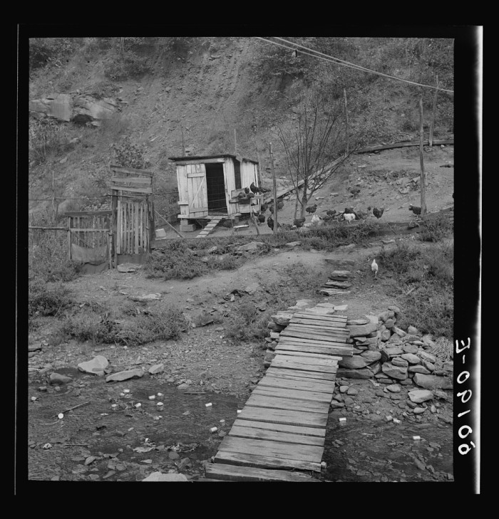 17. This is the backyard of a miner's home in Bluefield in 1941.