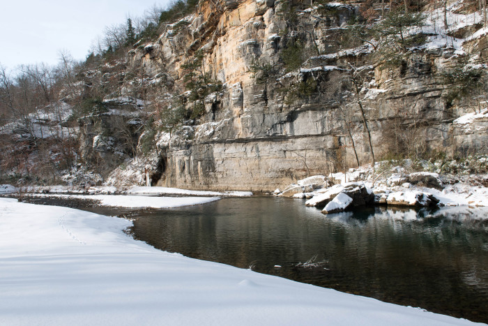 1. Buffalo River Snowfall
