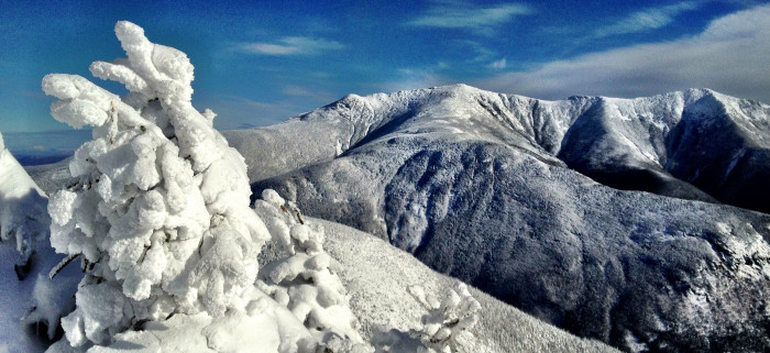 9. Cannon Mountain, kissed by snow.