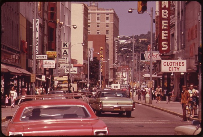 8. This was Capitol Street in Charleston in 1973.