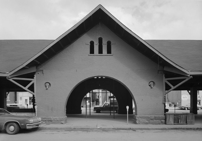 4. This was the entrance to the Center Market in Wheeling in 1977.