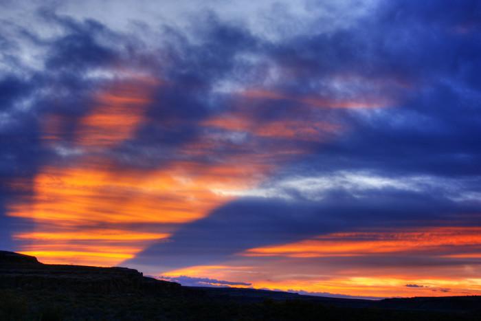 8. The sun rises over Chaco Canyon National Historical Park, near Nageezi