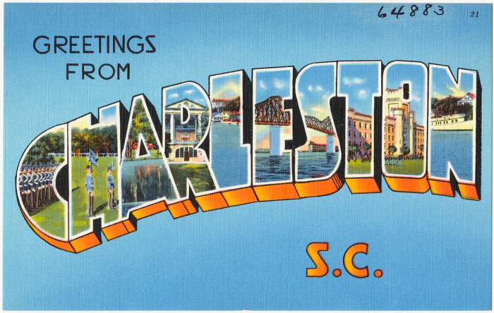 Vintage 50s - 60s  postcard from Charleston, SC.