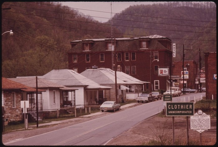 22. This was Clothier in Boone County in 1974.