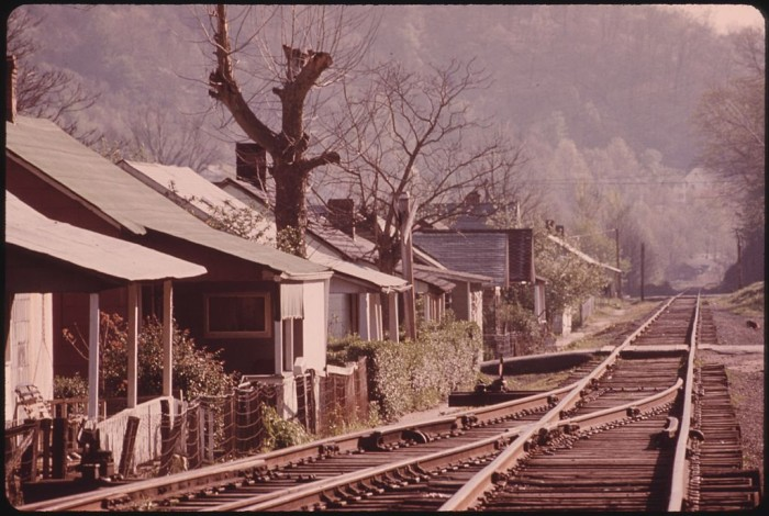 21. This is a look at houses in a coal company town near Logan in 1974.