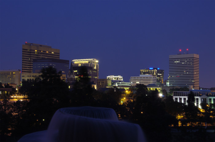4. The same view from Finlay Park in Columbia at night.