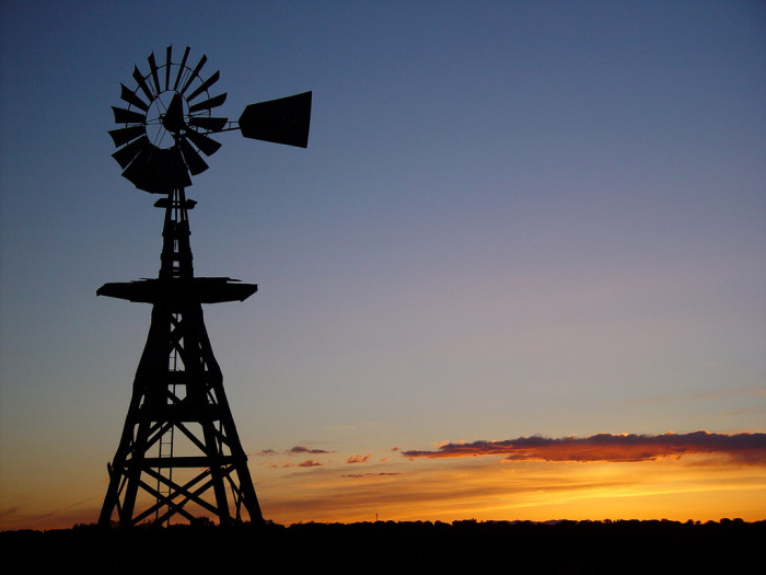 9. Windmill at sunset in Corona