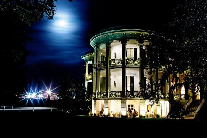 1. A full moon glows over Nottoway Plantation