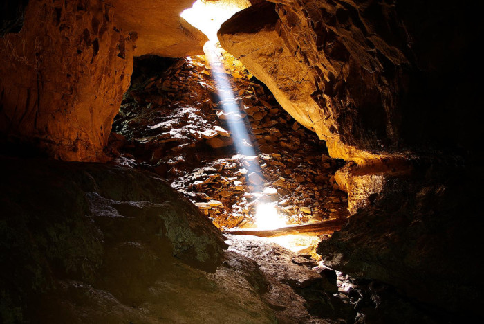 9. This is the entrance to Dreen Cave in Pocahontas County