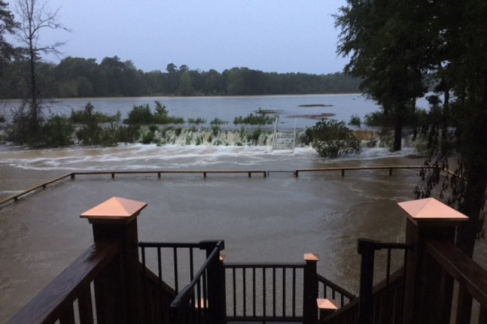9. The neighbor of this Eastover, SC homeowner had his home's foundation washed away by the flood.