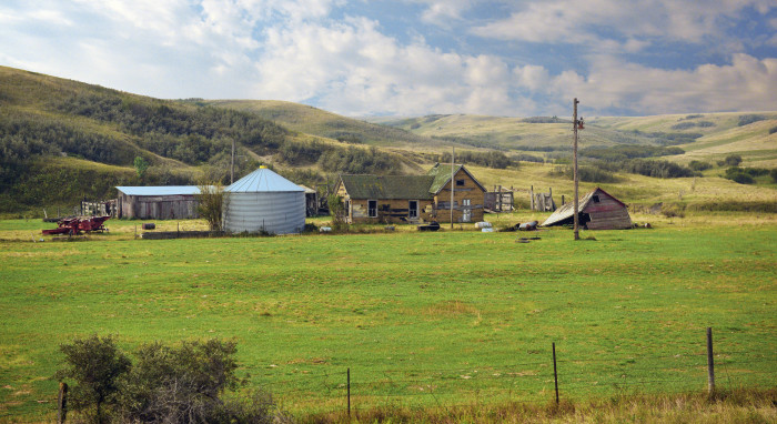 10.  A gorgeous old farm among the hills