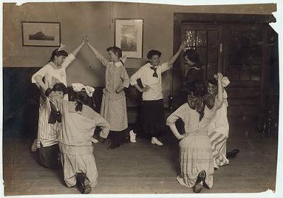 12. Folk dancing in Plymouth.