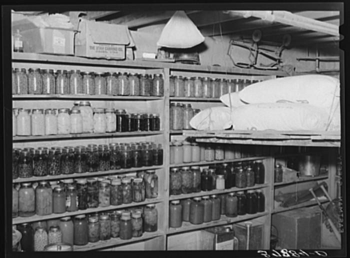 4. Food Storage in the Cellar in Santa Clara.