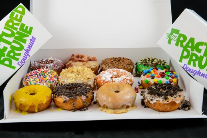 2) Fractured Prune, various locations