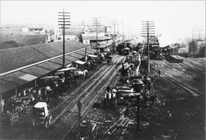 7. The French Market, back when there was a railroad right next door.