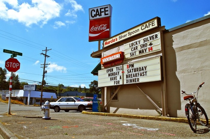 1. You might originally overlook Marcia's Silver Spoon Cafe in Tacoma...