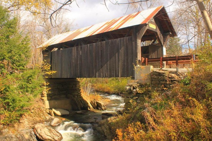 3.  Go ghost hunting at Emily's Covered Bridge in Stowe.