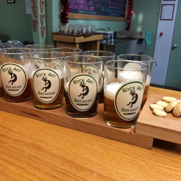 8.  Sample craft beer at the Rock Art Brewery in Morrisville.