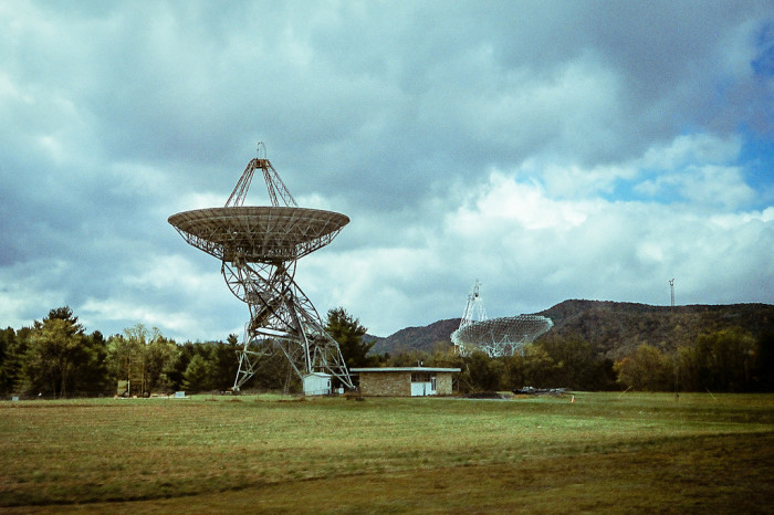 Restrictions are different depending on how close you are to the telescope. The biggest restrictions are for those within 20 miles of it. Radio transmitters are regulated within 10 miles of the NRAO facility. There's no cell phone reception, no radio stations.