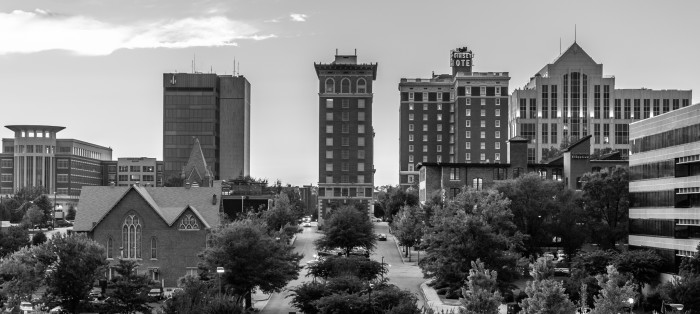 5. Downtown Greenville - in the day and stripped of all its usual color. Still beautiful!