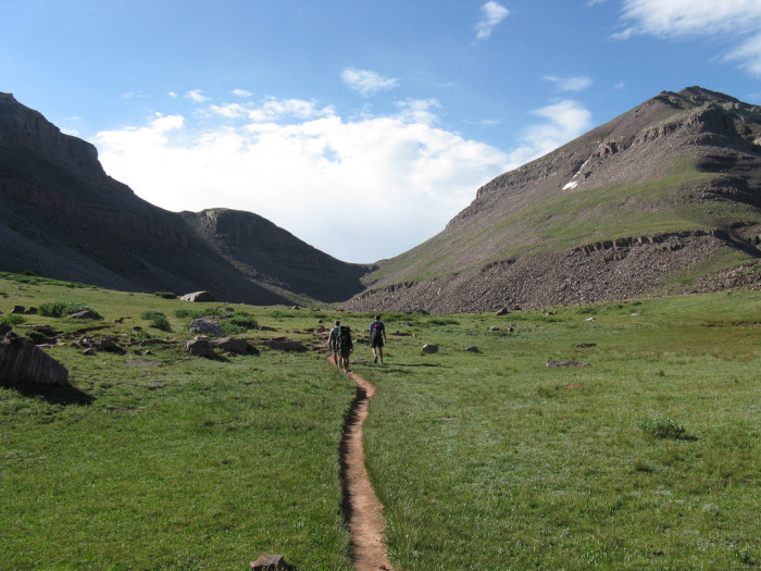 Some of the trail is a gradual climb.