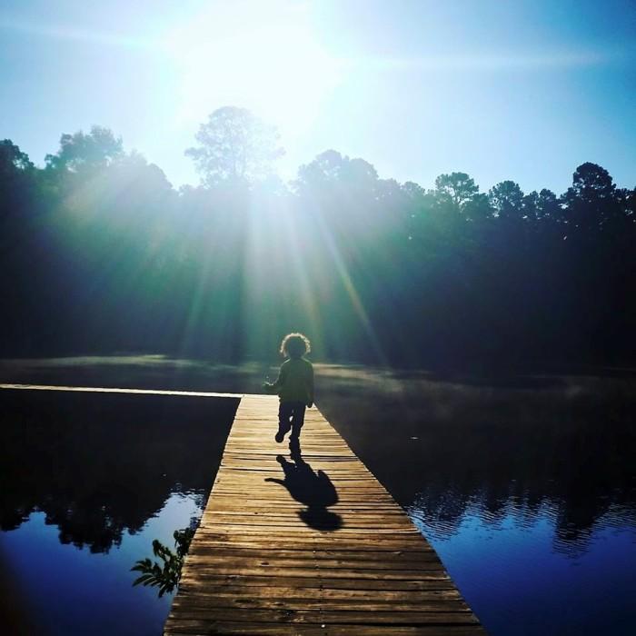 10. Child playing at Holly Lake Ranch