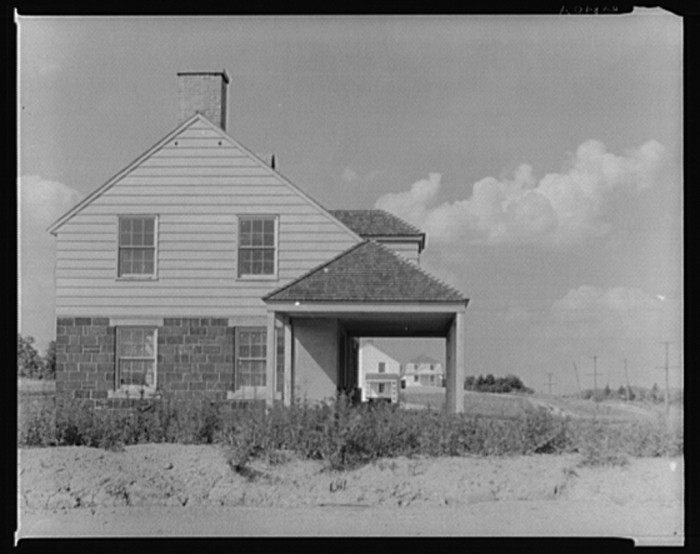 10. This was a home in the Arthurdale project in Reedsville, 1935.