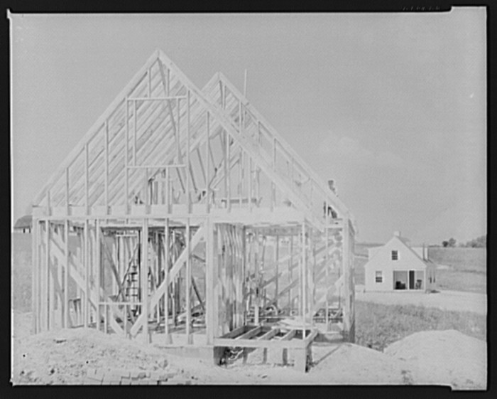 6. This was a home under construction in the Arthurdale project in Reedsville, 1935.