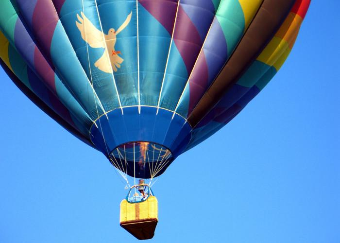 8. On a hot air balloon