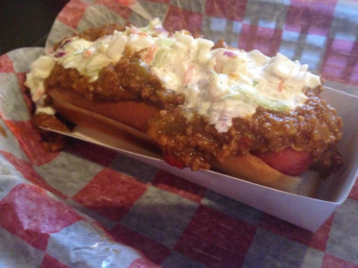 3. Hot dogs with coleslaw