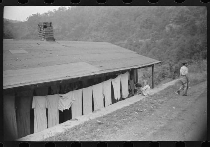 12. This was a house in the abandoned community of Marine in McDowell County, 1938.