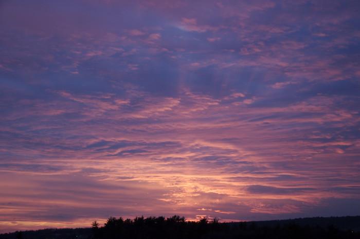 6. Purple skies in Hudson.