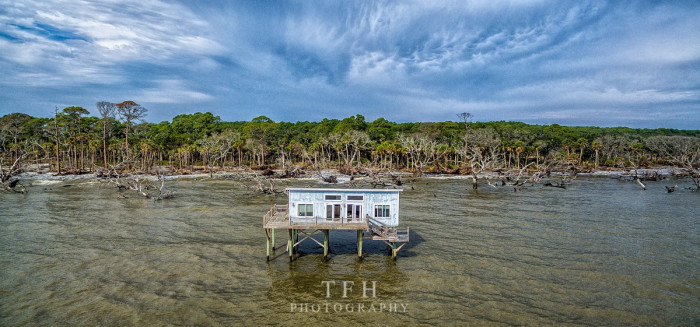 16. A different perspective of the same old cabin on Hunting Island Beach in South Carolina.