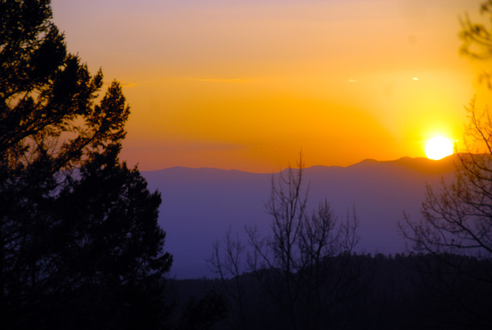 11. Jemez Mountains sunset